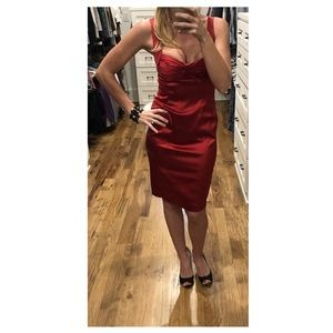 Sweetheart Red Fitted Dress